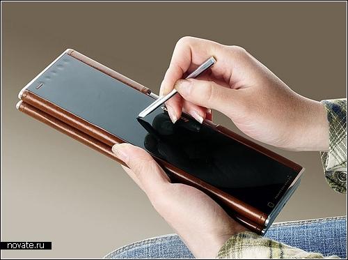 Стильный кожаный нетбук Lenovo Pocket Yoga. Концепт для бизнес-леди