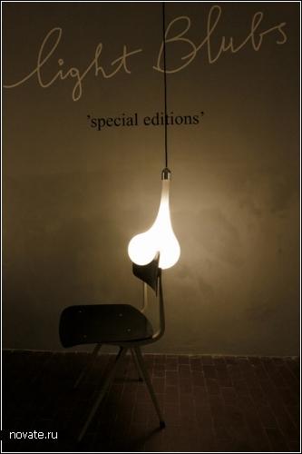 Расплавленные лампочки Light Blubs из проекта Design Virus project от дизайнера Pieke Bergmans