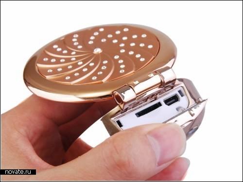 Телефон-*пудреница* Make-UP Case Phone для гламурных барышень