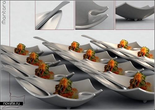 Специальная фуршетная посуда для бизнес-ланчей. Проект дизайнера Габриэля Контино (Gabriel Contino)