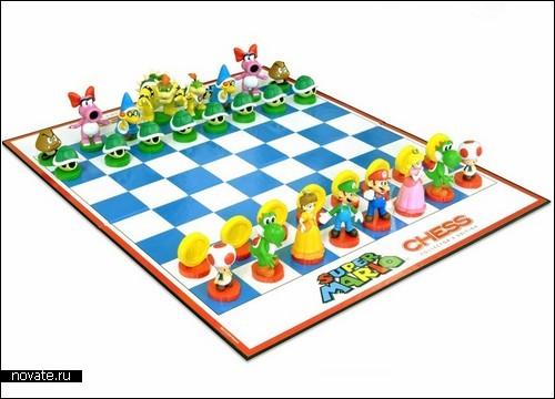 Детские шахматы  Super Mario Chess Set от братьев Марио и Луиджи