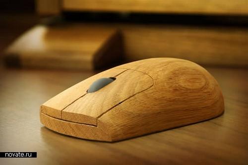 Мышка из настоящего дуба