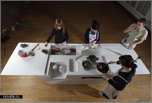 Многофункциональный стол, он же мини-кухня от компании Ensci
