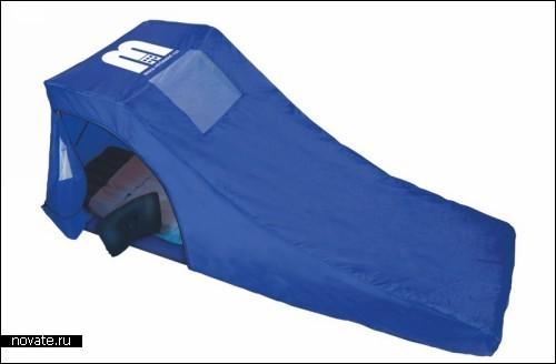 Домик-палатка поможет выспаться в аэропорту