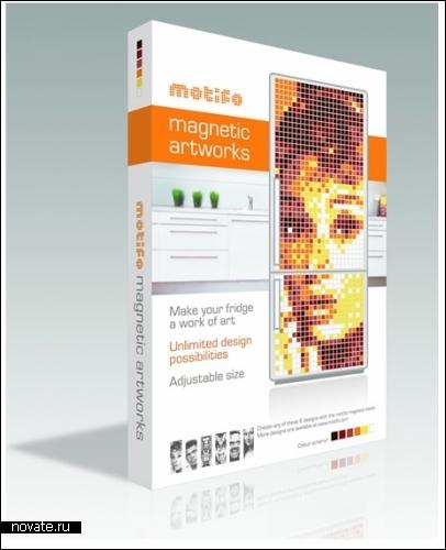 Магнитные *пиксели* Motifo для *рисования* на холодильнике