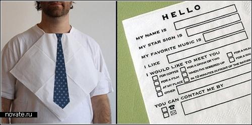 Необычные бумажные салфетки от дизайнеров-юмористов