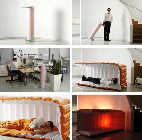 Надувной домик для офисных сонь