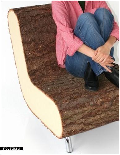 Деревянная мебель из квадратных деревьев