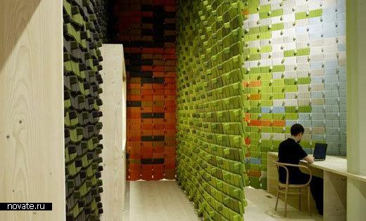 *Текстильные чешуйки* для стен. Дизайнеры Ronan & Erwan Bouroullec
