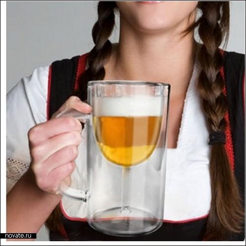 Посуда с иллюзией: бокал для пива или кружка для вина?