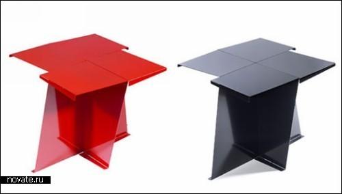 Мебель-оригами, *сложенная* из стали