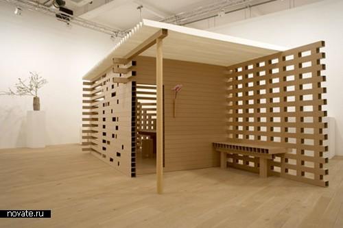 Дизайнерский домик из картона