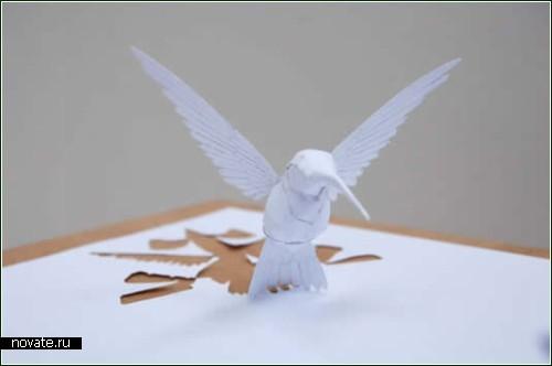 Скульптурные мини-произведения из бумаги