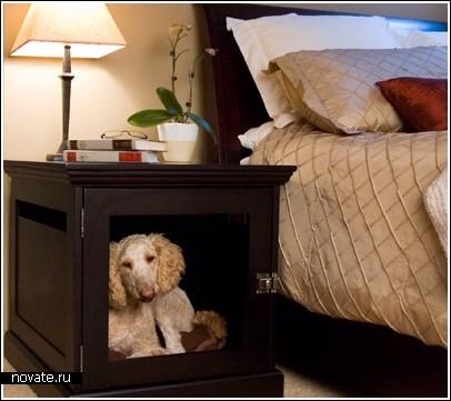 Домашние будки для собак в квартире