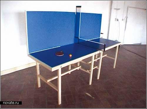 Креативные столики для необычного тенниса