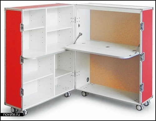 Модульная мебель для дома и офиса. Портативная квартира в коробке