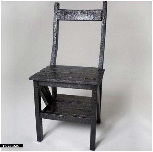 Дизайнерское оправдание сгоревшей мебели. Проект Pre-Burned Furniture от Camillo Vanacore