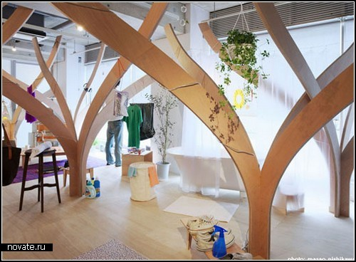 Модерновый разделитель помещения от Naruse Inokuma Architects