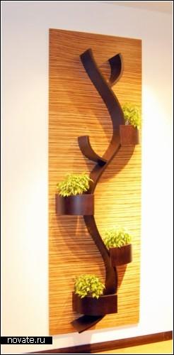 Дизайнерские еПолка на стену для цветов своими