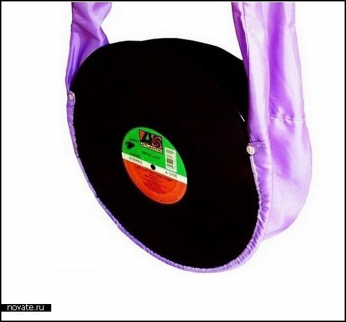 Обзор креативных сумок.  Сумки из книг.  Ну, а если нет пластинок, можно...