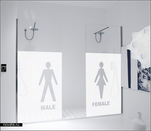 Shower Box design от Антонио Лупи. Декор для ванной комнаты