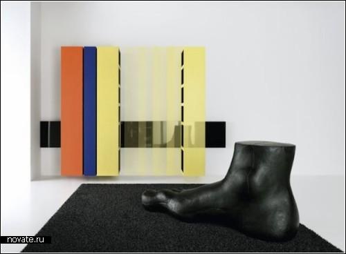 *Скользящие шкафы* Sliding Bookcases, созданные Энцо Берти (Enzo Berti)