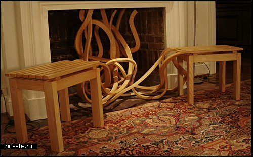 Скамейка-спагетти (Spaghetti Bench). *Кулинарный* проект Пабло Рейносо (Pablo Reinoso)