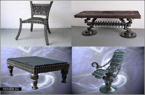 Мебель из цепи своими руками