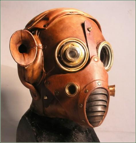 Креативные маски и противогазы в стиле стимпанк (Steampunk)
