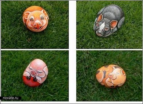 Живопись на камнях от Сюзи Чуа (Suzi Chua)
