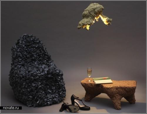 Коллекция мебели Storm Furniture, смоделированная *комнатным штормом*