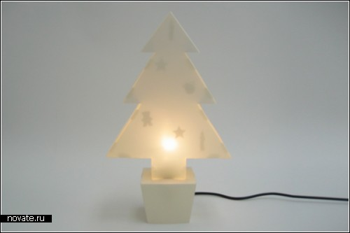 Настольные лампы в форме елок и зверушек