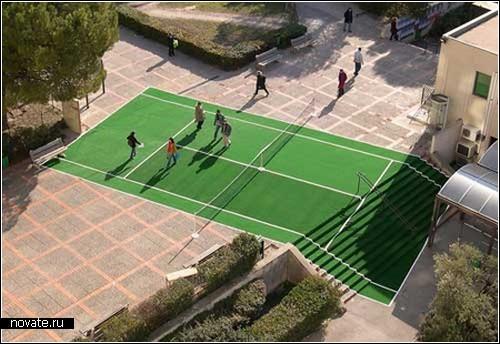 Экстремальные корты для большого тенниса