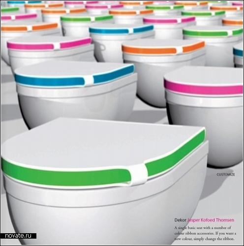 Креативные крышки для *белого фаянсового друга*. Туалетный дизайн