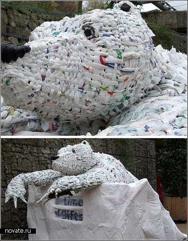 Графство Корнуэлл. Трэш-скульптура из полиэтиленовых пакетов, автор неизвестен