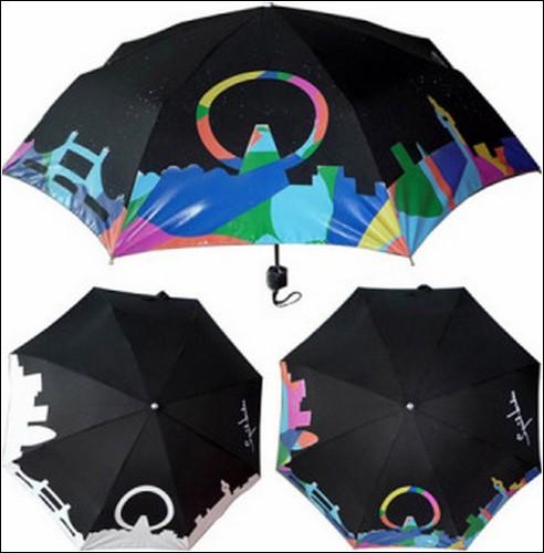 Зонт, который меняет цвет под влиянием воды. Дизайн компании Squidarella