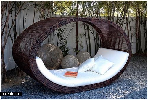 Садовая дизайнерская плетеная мебель Lifeshop от Espaciohogar.