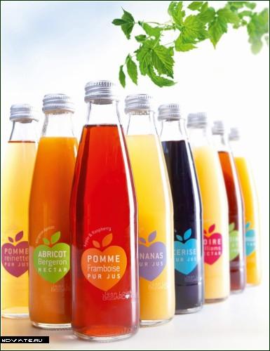 Французский сок от Jean-Louis Bissardon. Бронзовый призер конкурса на лучшую дизайнерскую упаковку-2008