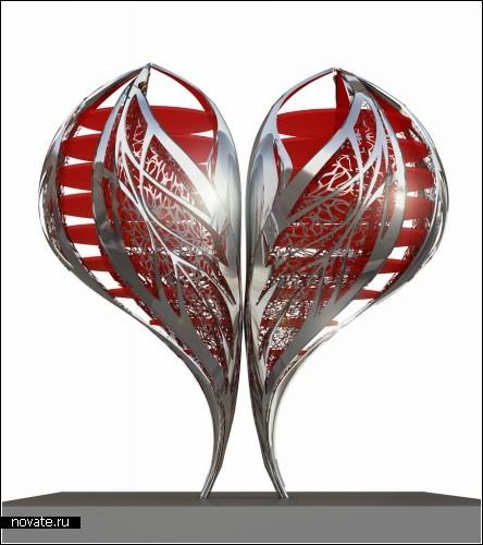 Valentine to Times Square - двухтонное сердце для жителей Нью-Йорка
