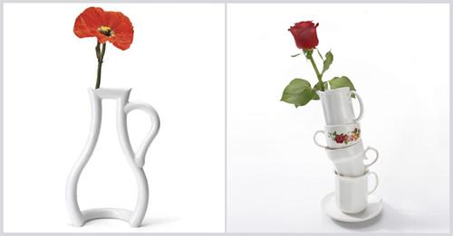 Необычные сосуды для цветов