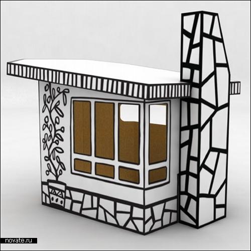Картонный домик Villa Julia для детских развлечений