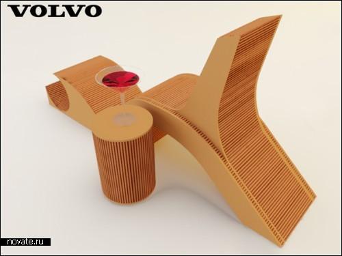 Креативный стул Green Volvo Chair от дизайнера, вдохновленного Volvo С30