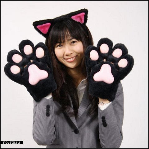 Лапки Warmer Cat Paw Gloves с подогревом