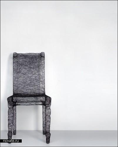 Мебель и другие предметы интерьера, завернутые в кокон. Дизайнер Пьер Краш (Pierre Kracht)