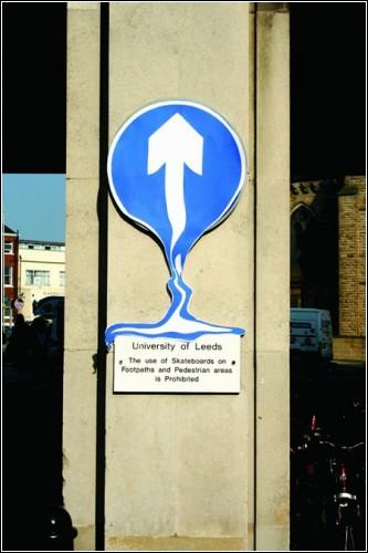 Растаявшие дорожные знаки