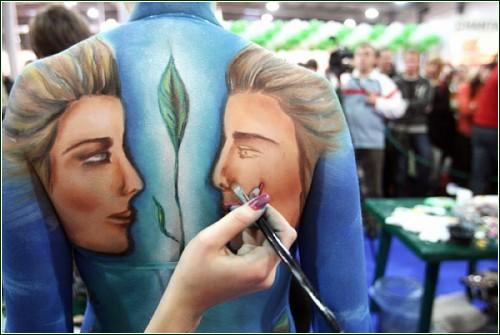 Искусство рисования по человеческому телу