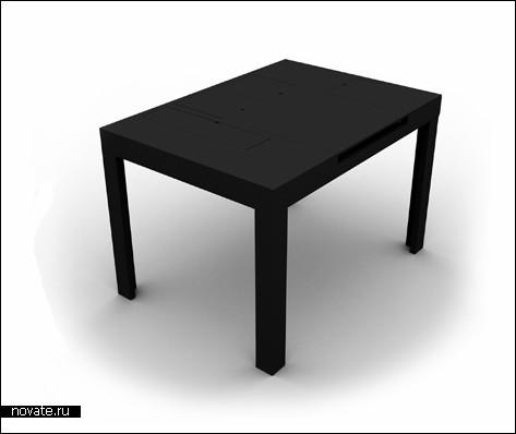 Стол с потайными ящиками