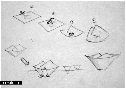 Блюдце Оригами из бумаги с пошаговой инструкцией