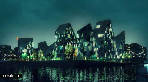 Здание-айсберг в Орхусе