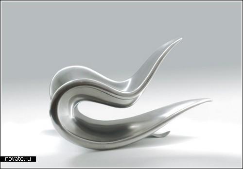 Кресло-качалка из стали